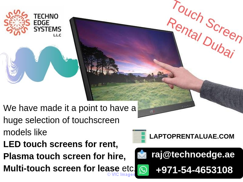 Touch Screen Rental Dubai - Best offers at Techno Edge Systems LLC