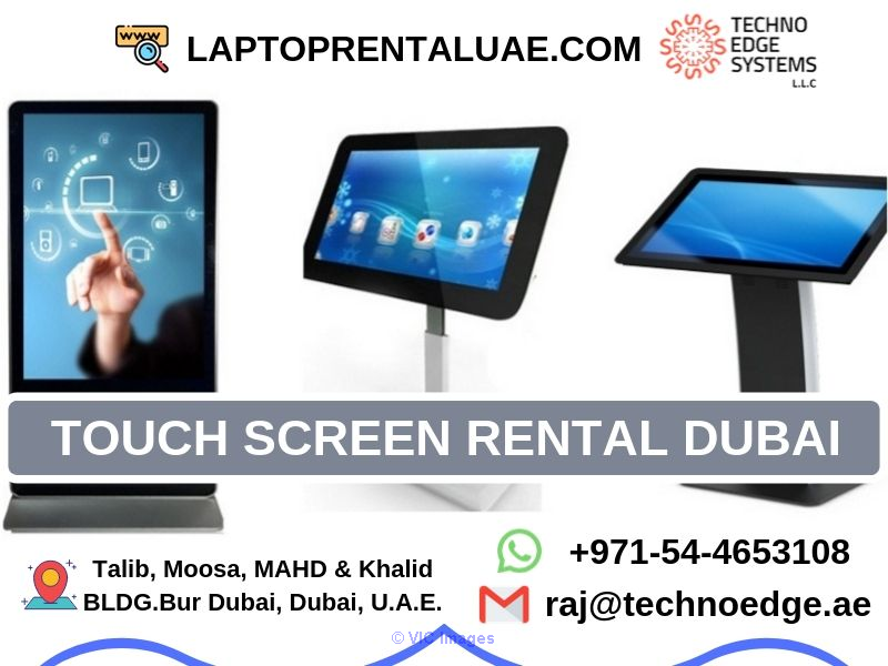 Touch Screen Rental Dubai, UAE - Interactive Touch Screen