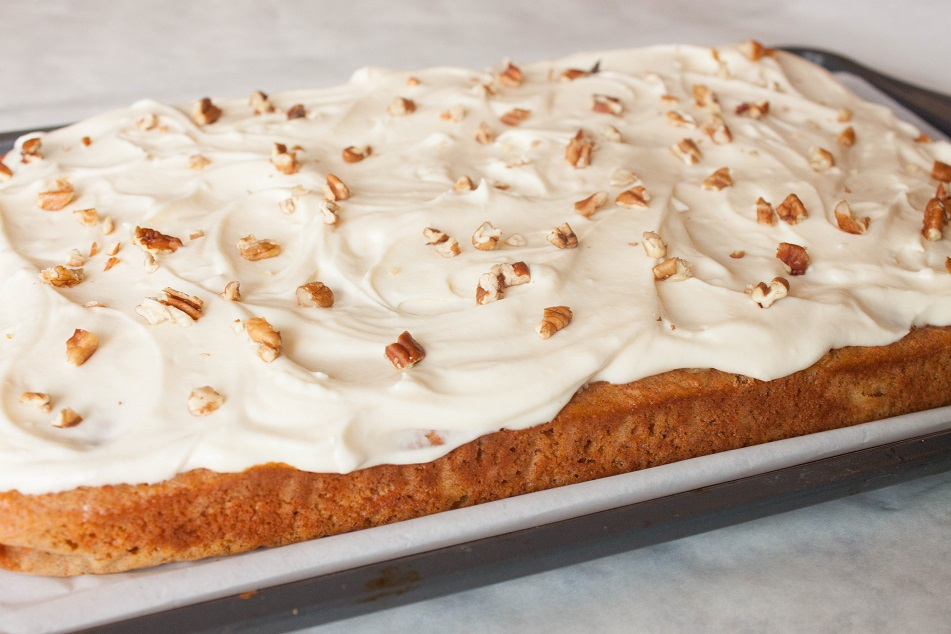 Carrot Pineapple Cake with Pecans