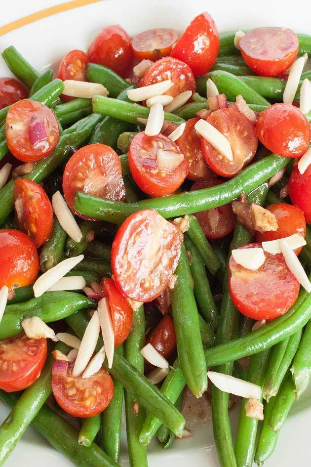 Warm Tomato and Green Bean Salad