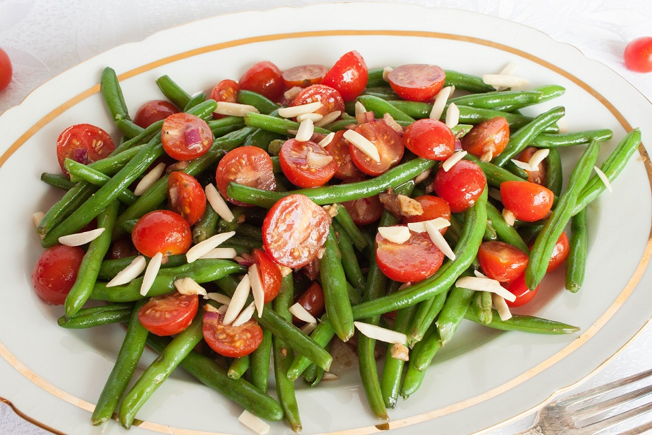 Delicious Warm Tomato and Green Bean Salad