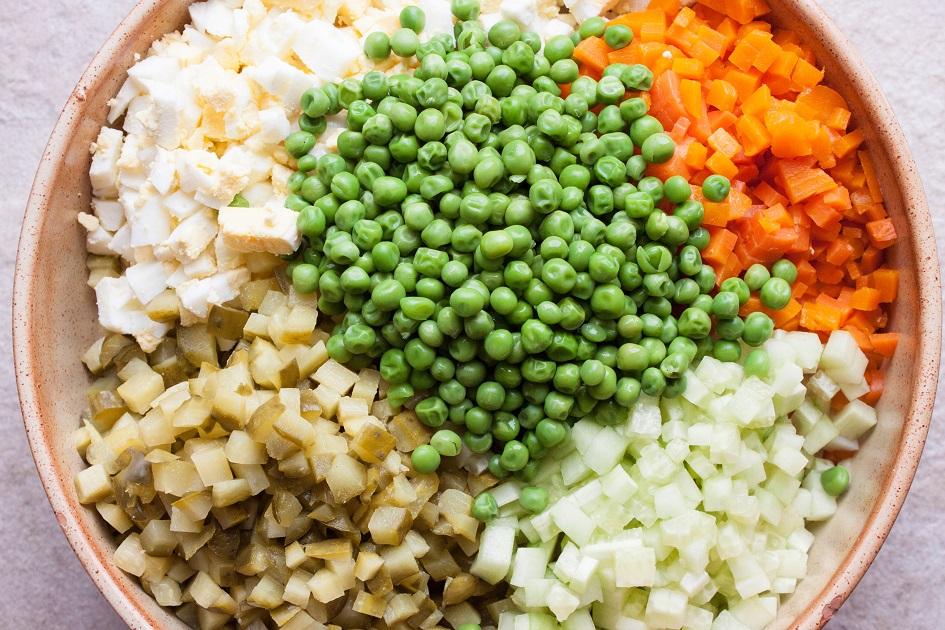 Vegetables for Salad Olivie
