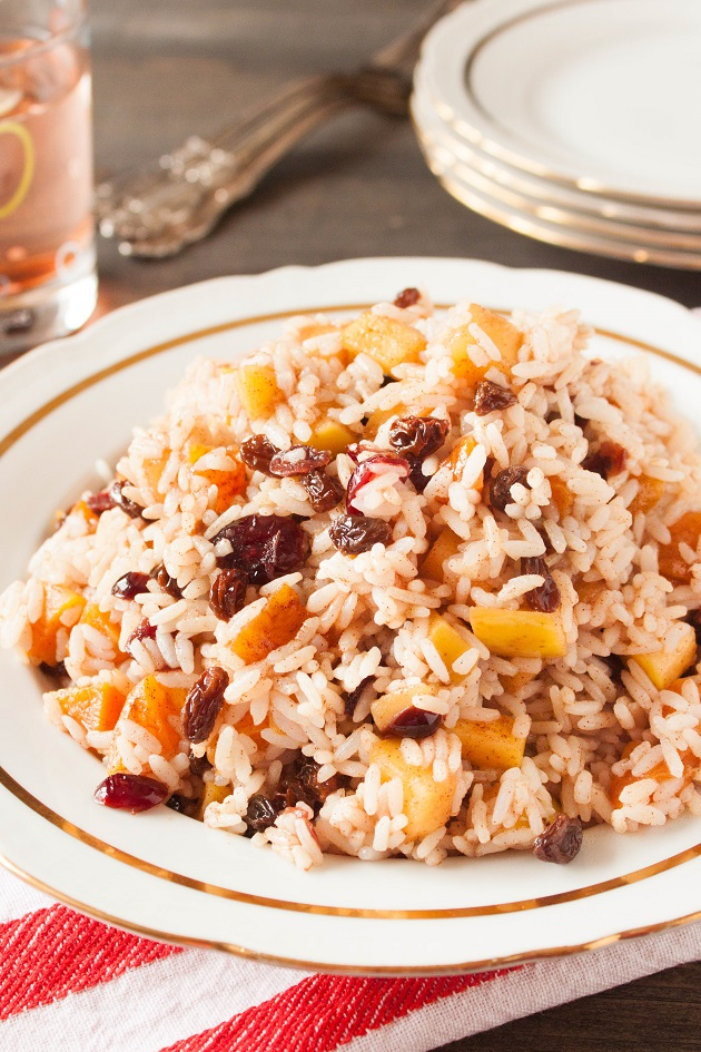 Sweet Rice with Dried Fruits and Apples