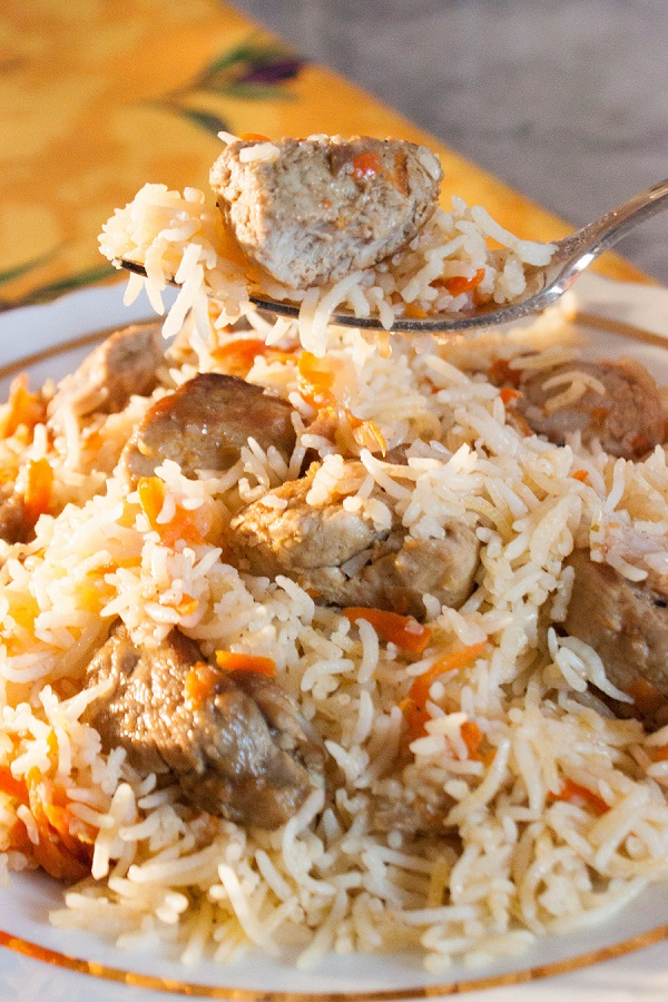 Meat Pilaf - Russian Plov Recipe