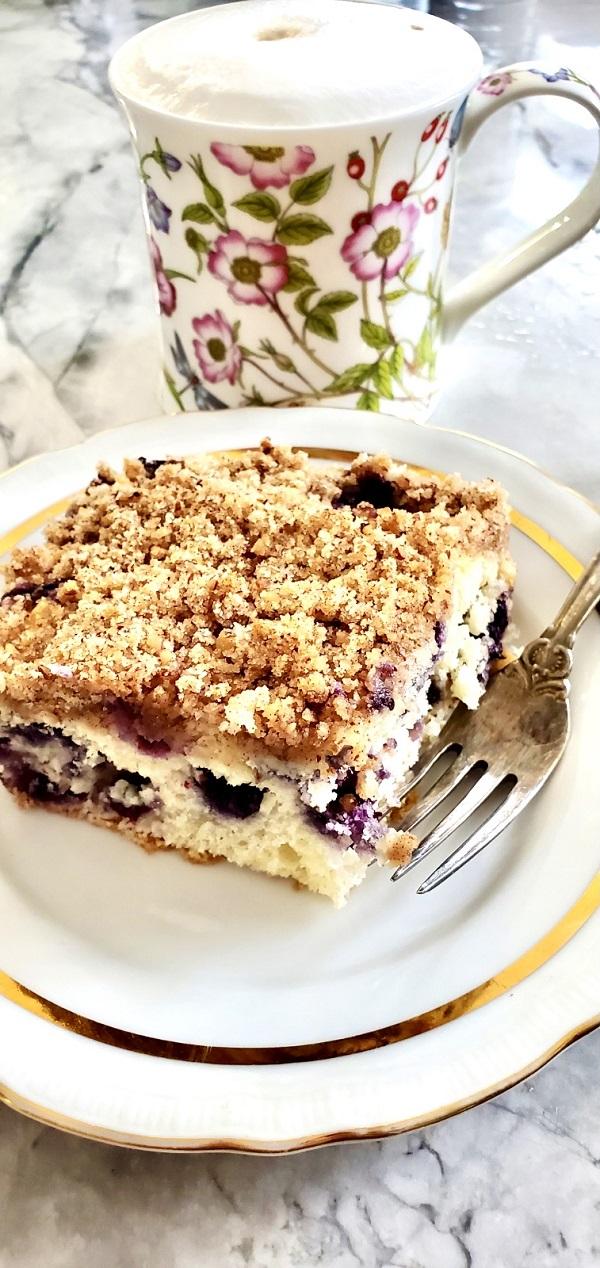Coffee Blueberry Cake