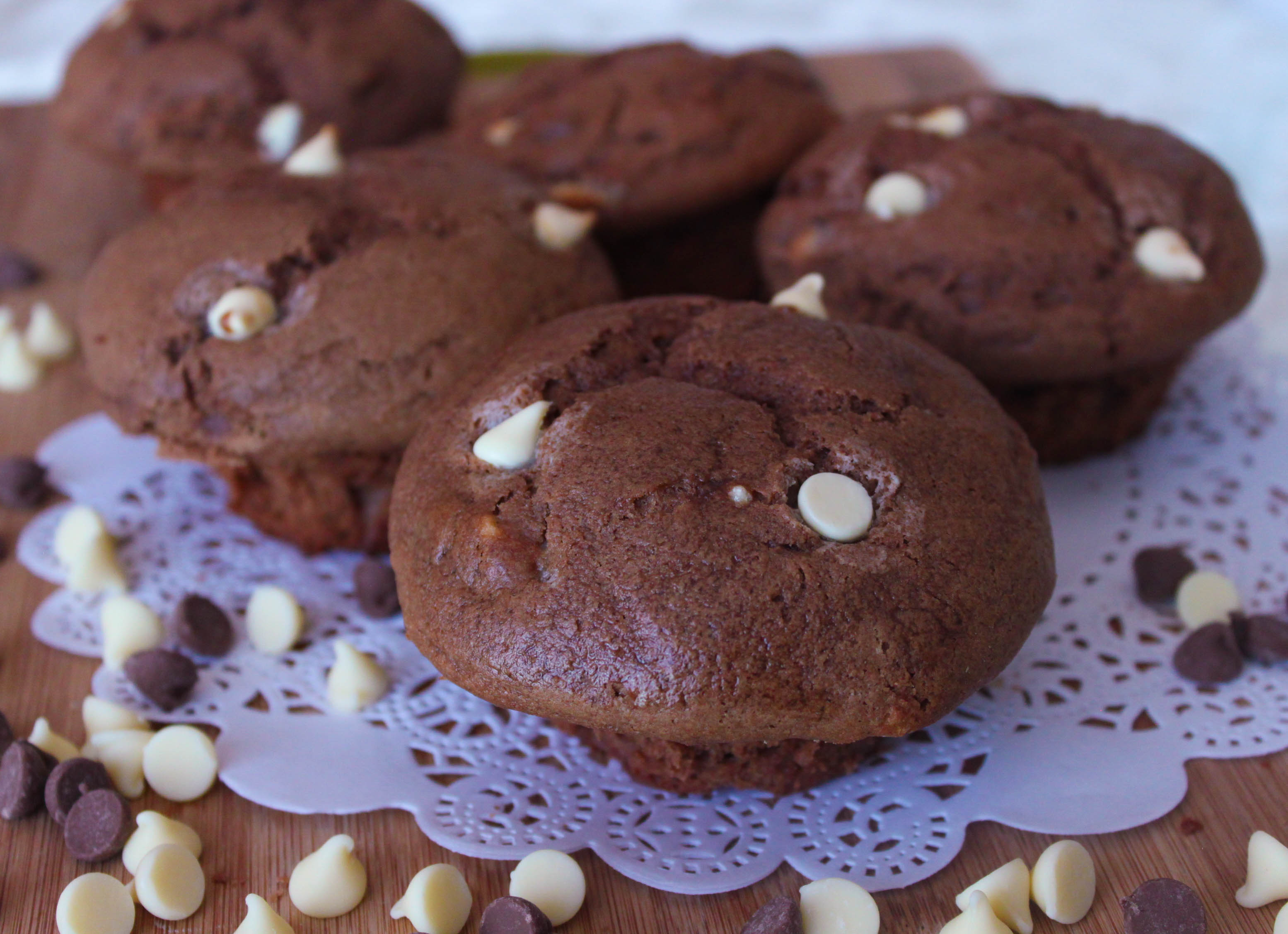Triple chocolate muffins - soft, delicious and easy to make.