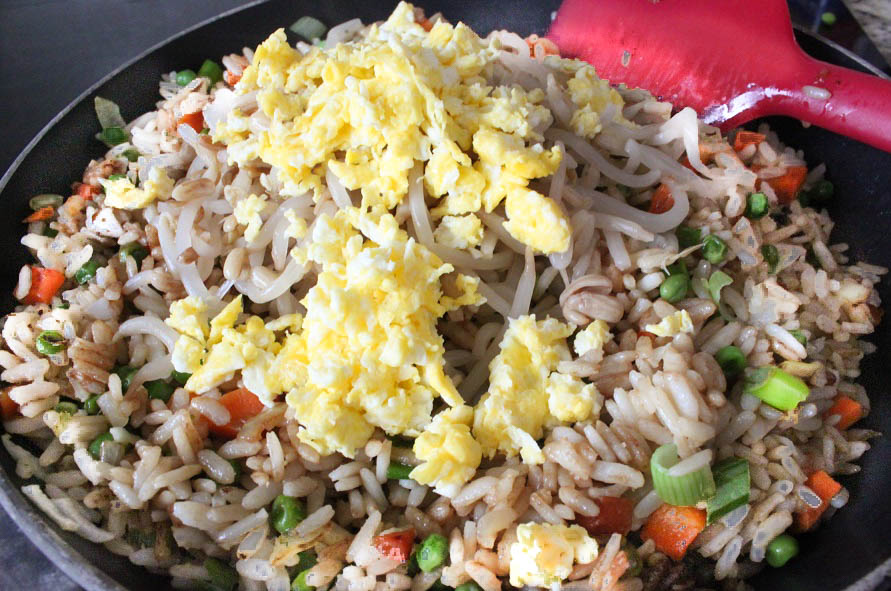 Fried Rice with Vegetables and an egg
