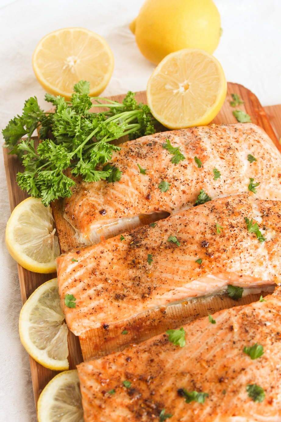 Baked Salmon with Herbs and Lemon - Delicious, flavorful and very easy to prepare.