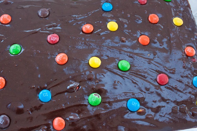 Chocolate Brownie butter with M&M's