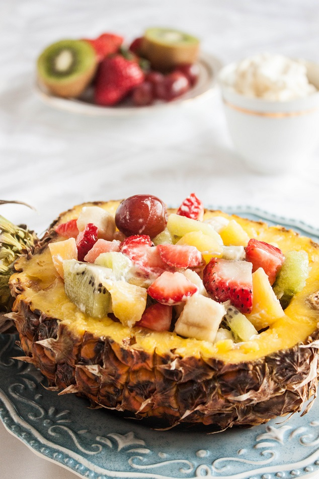 Fruit Salad in a Pineapple