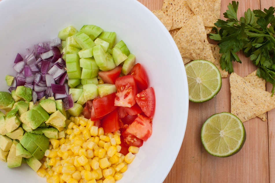 Mexican Salad with Tortilla Chips