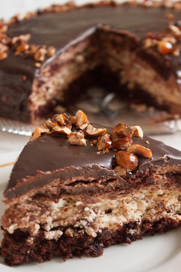 Chocolate brownie meringue cake recipe
