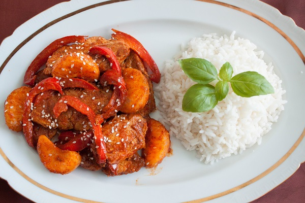 Pork Tenderloin with Spicy Sauce and Clementines