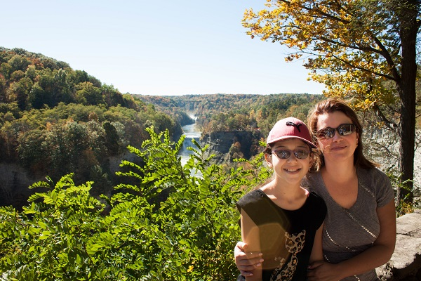With my daughter at Letchworth State Park on Thanksgiving